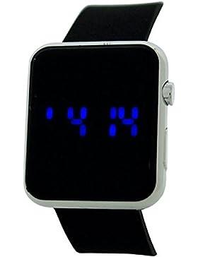 Reflex Unisex-Digital-Armbanduhr REF0077, Multifunktionsuhr, lässiger Stil, Armband Gummi, Schwarz