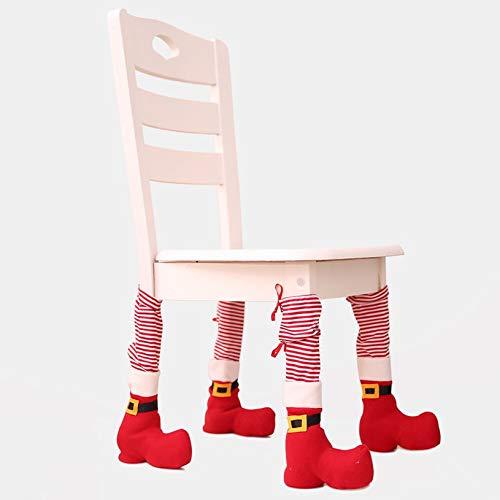 Fghfhfgjdfj Silla Navidad Calcetines piernas Pata
