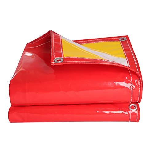 ZHANGGUOHUA Ausstellungszelt-Plane wasserdicht verdicken Auto-LKW-Schatten-Plane-Überdachungs-Fracht-Yard-Regenschutz-Sonnenschutzmittel im Freien schwer (Farbe : Rot, größe : 5x5m)