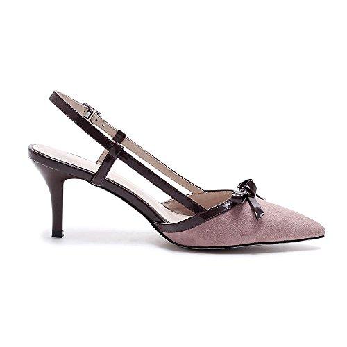 GJDE Da donna Sandali Matrimonio Ufficio e lavoro Serata e festa Comoda Cinturino alla caviglia stiletto Vernice red bean paste