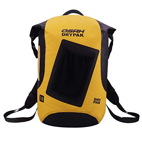 OSAH DRYPAK Wasserdichte Rucksack Packsäcke Outdoors Dry Bag (Gelb-2, 18L)