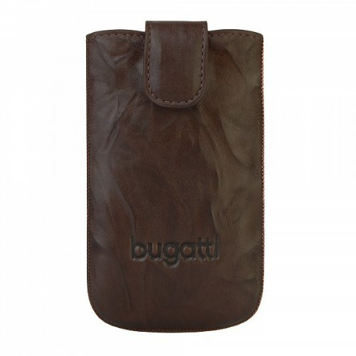 Bugatti SlimCase leather unique for BlackBerry®, Samsung, Sony, LG, HTC Handytasche Leder 8,1 cm tabacco