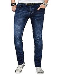 Designer Herren Jeans Hose Regular Slim Fit Jeanshose Basic Stretch