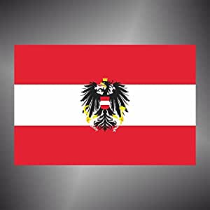 Adesivo Bandiera AUSTRIA flag sticker