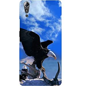 Casotec Extended Eagles Design Hard Back Case Cover for Lenovo A6000 / A6000 Plus