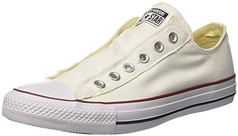 Converse Ctas Slip On Ox 015710-610-3, Unisex - Erwachsene Sneaker, Weiß (Blanc Optical), EU 41