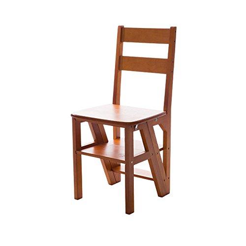 Jia He Hocker aus massivem Holz Home Holz Multifunktions Klappleiter - Klappleiter Stuhl Voller Massivholz Assemblage Ascend 4 Schritte Hocker Multifunktions Sessel, 90cm hoch