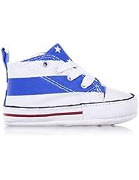 Converse - Converse CT First Star Scarpe Culla Bambino Bianche Blu Tela 852738C - Bianco, 18