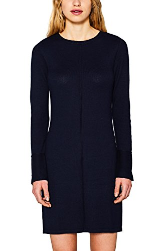 edc by ESPRIT Damen Kleid 127CC1E014, Blau (Navy 400), Large
