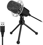 Xiaokoa PC Microphone,USB Microphone Voice Desktop for Computer Notebook Desktop Voice Microphones, Suitable f