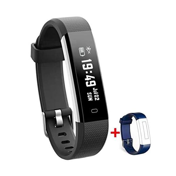 Nakosite RAY2433 Reloj inteligente Mujer Hombre SmartWatch pulsera Actividad relojes Inteligentes deportivo podometro,Contador de Pasos,Calorías,Sueño,Distancia.Android 5.0 iOS 8.0 y posteriores 1