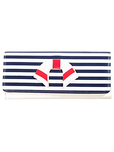 Weiße Clutch Wallet (ancing Days by Banned Clutch VINTAGE NAUTICAL WALLET 1489 Weiß one size)
