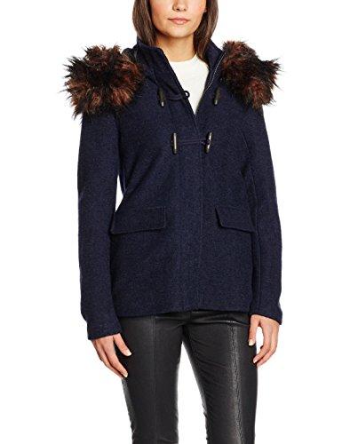Only Onlyatta Wool Jacket Otw, Blouson Femme Bleu (Night Sky)
