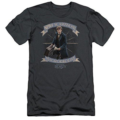 Fantastic Beasts Newt Scamander Mens Premium Slim Fit Shirt