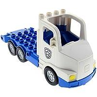 Preisvergleich für Bausteine gebraucht 1 x Lego Duplo Fahrzeug LKW weiß blau Polizei Transporter Chassis Laster Auto Lastwagen Set Police Truck 5680 4610615 87700c04pb01