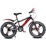 Bicicletta da Bicicletta per Bicicletta da Bambino per Bicicletta da Single-Speed per Studenti, 16〃18〃20〃, Telaio in Acciaio ad Alto tenore di Carbonio (Color : Red, Size : 16inches)