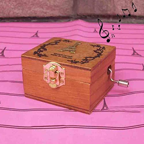 JINYANG Spieluhr Wohnkultur Kreative Exquisite Retro Holz Geburtstag Dekorationen Spieluhr, Gelegentliche Anlieferung