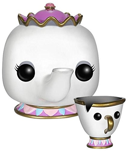 Funko Pop Tetera (Sra. Potts) y Taza (Chip) (Bella y Bestia – Disney 92) Funko Pop La Bella y la Bestia