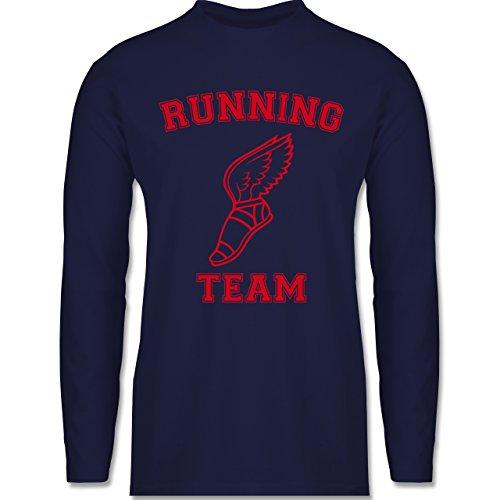 Laufsport - Running Team - Longsleeve / langärmeliges T-Shirt für Herren Navy Blau