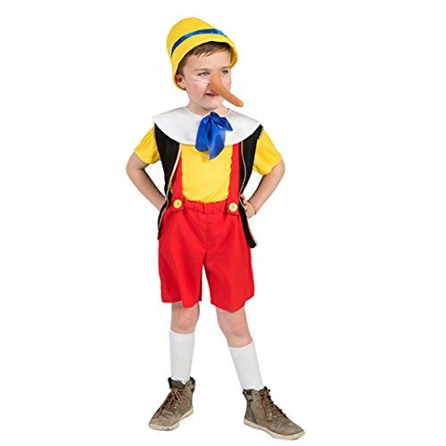 Krause & Sohn - Costume da Pinocchio per Bambini, Taglia 104 (4-5 Anni), in Legno