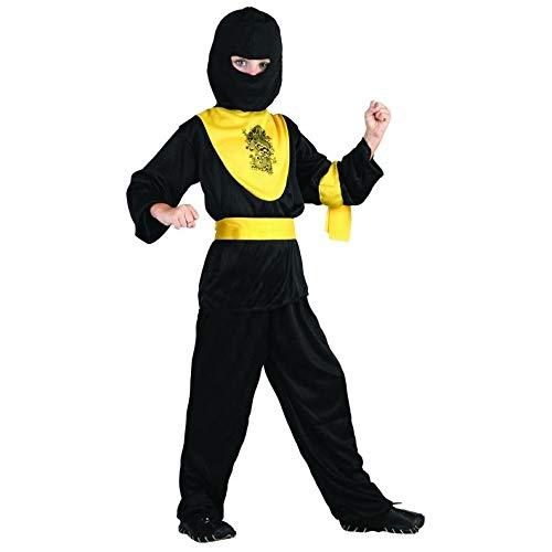 Unbekannt P 'Tit Clown Kostüm Kinder Ninja-Schwarz/Gelb
