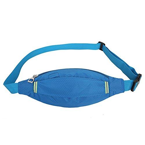 Reefa Unisex Diamant-förmigen Sommer Running Sport Multifunktionale Taille Tasche Blau