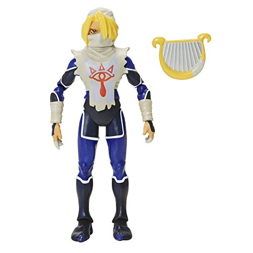 World of Nintendo, The Legend of Zelda: Ocarina of Time, Sheik Action Figure, 4 Inches by World of Nintendo