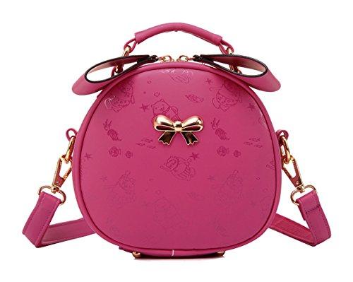 Tibes mode rondes femmes mignon cross corps sac petit sac à bandoulière Rose