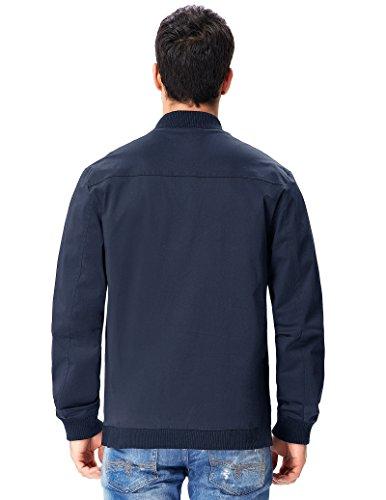 Paul Jones Herren Jacke Slim Fit Herrenmantel Trenchcoat PJ29-2(Marineblau)