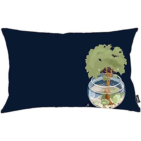 i FaMuRay Custom Cushion&Pillow Aquarium Tree Background,