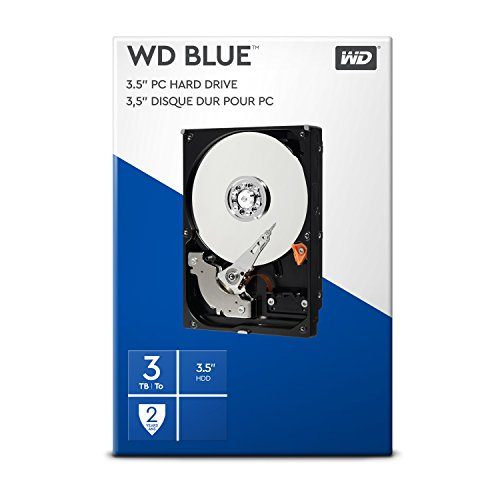 WD Blue 3 TB Interne Festplatte (8,89 cm (3,5 Zoll) 5400 U/min, SATA, 6 Gb/s, 64 MB Cache) (Retail Kit) 4 Gb-3