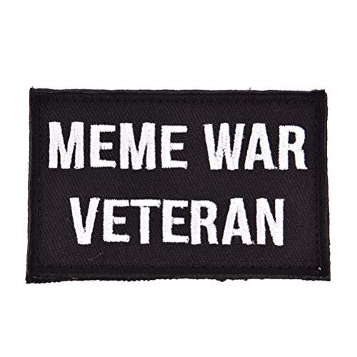 Bloomeet bestickter Patch Meme War Veteran Morale Patch Tactical Emblem Badge für Jacke -