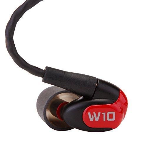 Westone W10 In-Ear-Monitor mit einem Balanced-Armature Treiber, Mikrofon und iPhone Fernbedienung Schwarz
