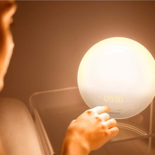 Philips HF3520/01 Wake-Up Light (Sonnenaufgangfunktion, digitales FM Radio, Tageslichtwecker) weiß - 6