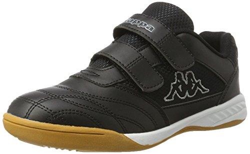 Kappa Kickoff Teens, Scape per Sport Indoor Unisex-Bambini, Nero (Black/Grey 1116), 38 EU