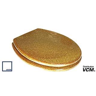 ADOB 41339Transparent Design Toilet Seat, Gold