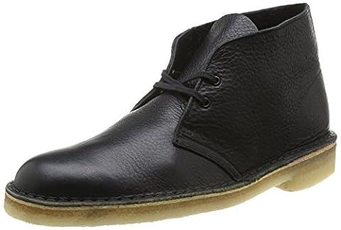 Clarks Originals Desert Boot, Herren Desert Boots Kurzschaft Stiefel & Stiefeletten, Schwarz (Black Tumbled Leather), 42.5 EU (8.5 Herren