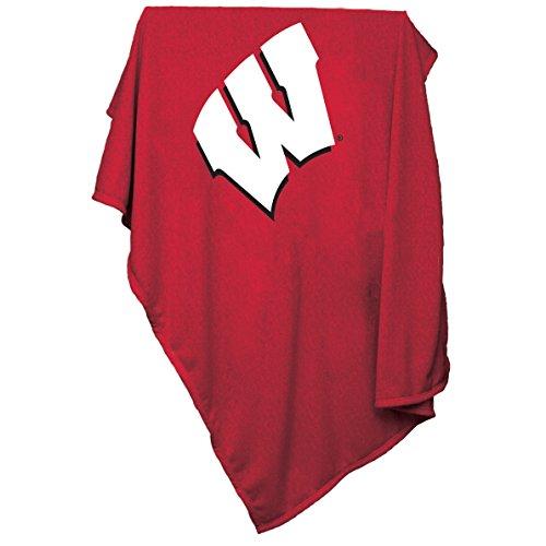 NCAA Sweatshirt Decke von Logo Marken, rot