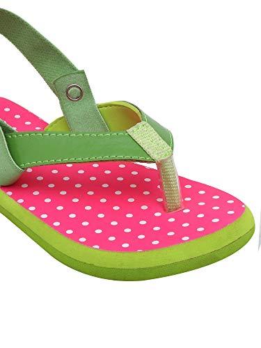D'chica Girl's Pastel Love Flip Flops for Toddlers Pink Flip-Flops-10 Kids UK (29 EU) (DCAP5060)