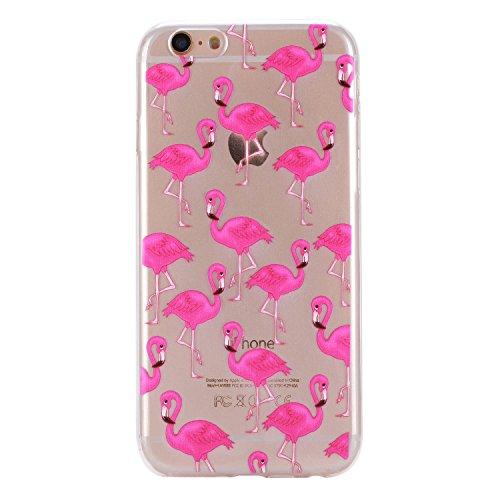 Pour Apple iPhone 6 Plus (5,5 Pouces) Coque ZeWoo® Étui en Silicone TPU Housse Protecteur - HX014 / Flamants Roses HX014 / Flamants Roses