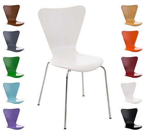 CLP Stapel-Stuhl CALISTO, Holzsitz, ergonomisch geformter Sitzfläche weiß