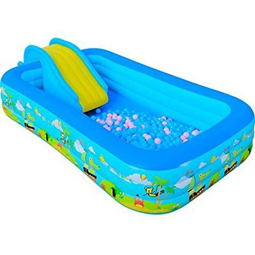 Pool- Aufblasbares Kinderbecken, Planschbecken, Haushalt Household mit Rutschen und Körben