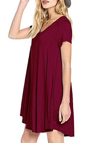 ASCHOEN - Robe - Femme rouge bordeaux