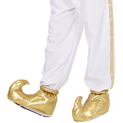 Goldene Orient Überschuhe Aladin Schuhüberzieher Sultan Schuhstulpen Flaschengeist Elfenschuhe Jeanie Haremsdame Schuh Überzieher Orientalisches Kostüm - Sultan Kostüm Schuhe