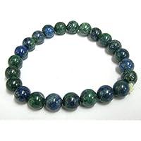 Schöne Chrysokoll Power rund Perlen Armband Edelstein Fashion Wicca Jewelry Crystal Healing Geschenk Wellness... preisvergleich bei billige-tabletten.eu