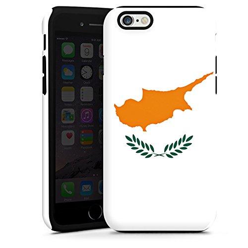 Apple iPhone 6 Housse Étui Silicone Coque Protection Chypre Drapeau Drapeau Cas Tough terne