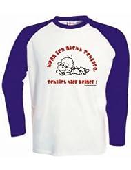 Kinder Baseball T-Shirt langarm Wenn ich nicht schlafe, schläft hier keiner / Größe 92 - 162