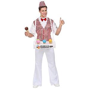 WIDMANN Srl disfraz de helados hombre y adultos, Rojo, wdm68593