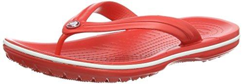 Crocs Crocband Flip U, Sandali, Unisex - adulto, Rouge (flame/white), 37-38