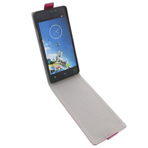 foto-kontor Tasche für Kazam Tornado 348 Smartphone Flipstyle Schutz Hülle pink